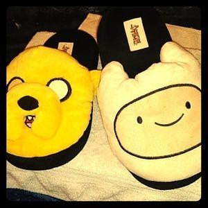 Men's Adventure Time Finn & Jake Bedtime Slippers